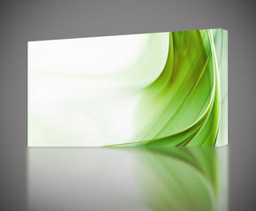 Modern Abstract Green Waves Canvas Print Giclee