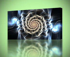 Tribal Glowing CIrcles Canvas Print Giclee