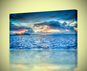 Bora Bora Ocean Sunset Canvas Print Giclee
