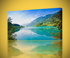 Turquoise Lake View Canvas Print Giclee