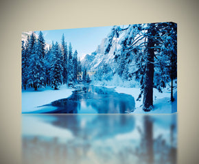Frozen River Canvas Print Giclee