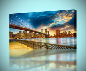 Brooklyn Bridge New York Sunset Canvas Print Giclee