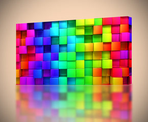 Colorful Blocks Canvas Print Giclee