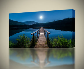 Lost Lake Moon Bridge Canvas Print Giclee