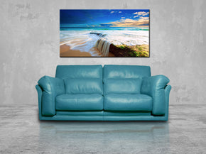 Exotic Beach Waterfall Canvas Print Giclee