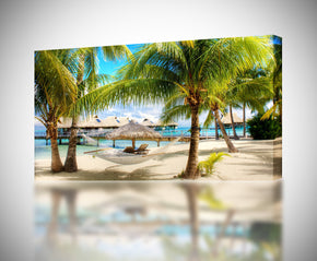 Tropical Beach Resort Canvas Print Giclee