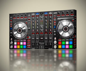 DJ Turn Table Controller Canvas Print Giclee