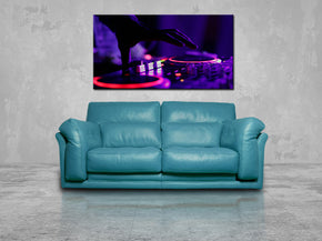 DJ Turn Table Controller Party Canvas Print Giclee