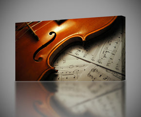Violin Musical Instruments Notes Canvas Print Giclee
