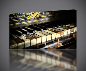 Old Piano Musical Instruments Canvas Print Giclee