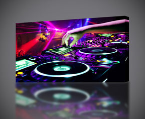 DJ Turn Tables Controller Party Canvas Print Giclee