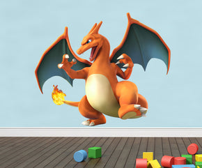 Charizard 3D Pokemon Wall Sticker Decal C356