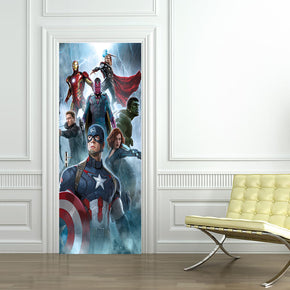 The Avengers Super Heroes Personalized DOOR WRAP Autocollant amovible Décalcomanies D01