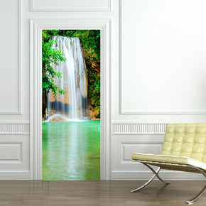 Exotic Waterfall DIY DOOR WRAP Decal Removable Sticker D105
