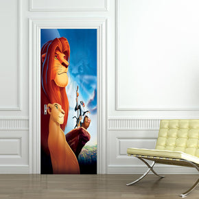 Lion King DIY DOOR WRAP Decal Removable Sticker D110