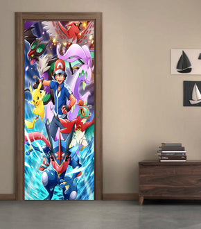 Pokemon DIY DOOR WRAP Decal Removable Sticker D113