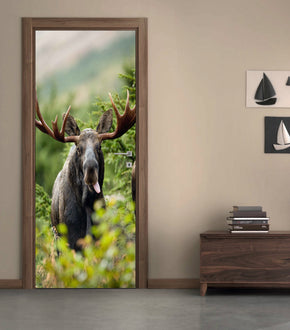 Moose DIY DOOR WRAP Decal Removable Sticker D123