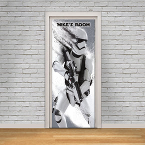Stormtrooper Star Wars DOOR WRAP Decal Wall Sticker Mural Personalized NAME D125