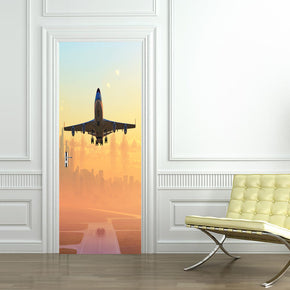 Airplane Lift Off DIY DOOR WRAP Decal Removable Sticker D134