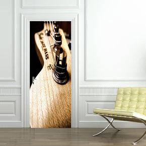 Bass Guitar Music DIY DOOR WRAP Decal Removable Sticker D151