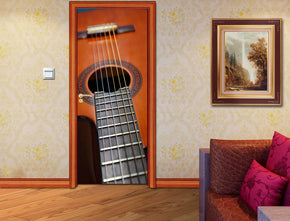 Classic Guitar Music DIY DOOR WRAP Decal Removable Sticker D152