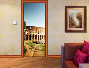 Rome Colosseum DIY DOOR WRAP Decal Removable Sticker D164