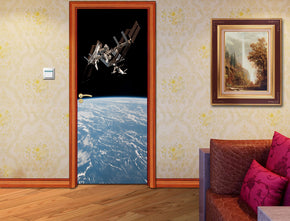 Earth From Space DIY DOOR WRAP Decal Removable Sticker D166