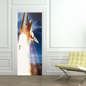 Space Shuttle Lift Off DIY DOOR WRAP Decal Removable Sticker D168