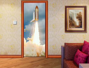 Space Shuttle Lift Off DIY DOOR WRAP Decal Removable Sticker D169