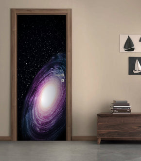 Space Galaxy DIY DOOR WRAP Decal Removable Sticker D170