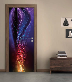 Abstract Neon DIY DOOR WRAP Decal Removable Sticker D17