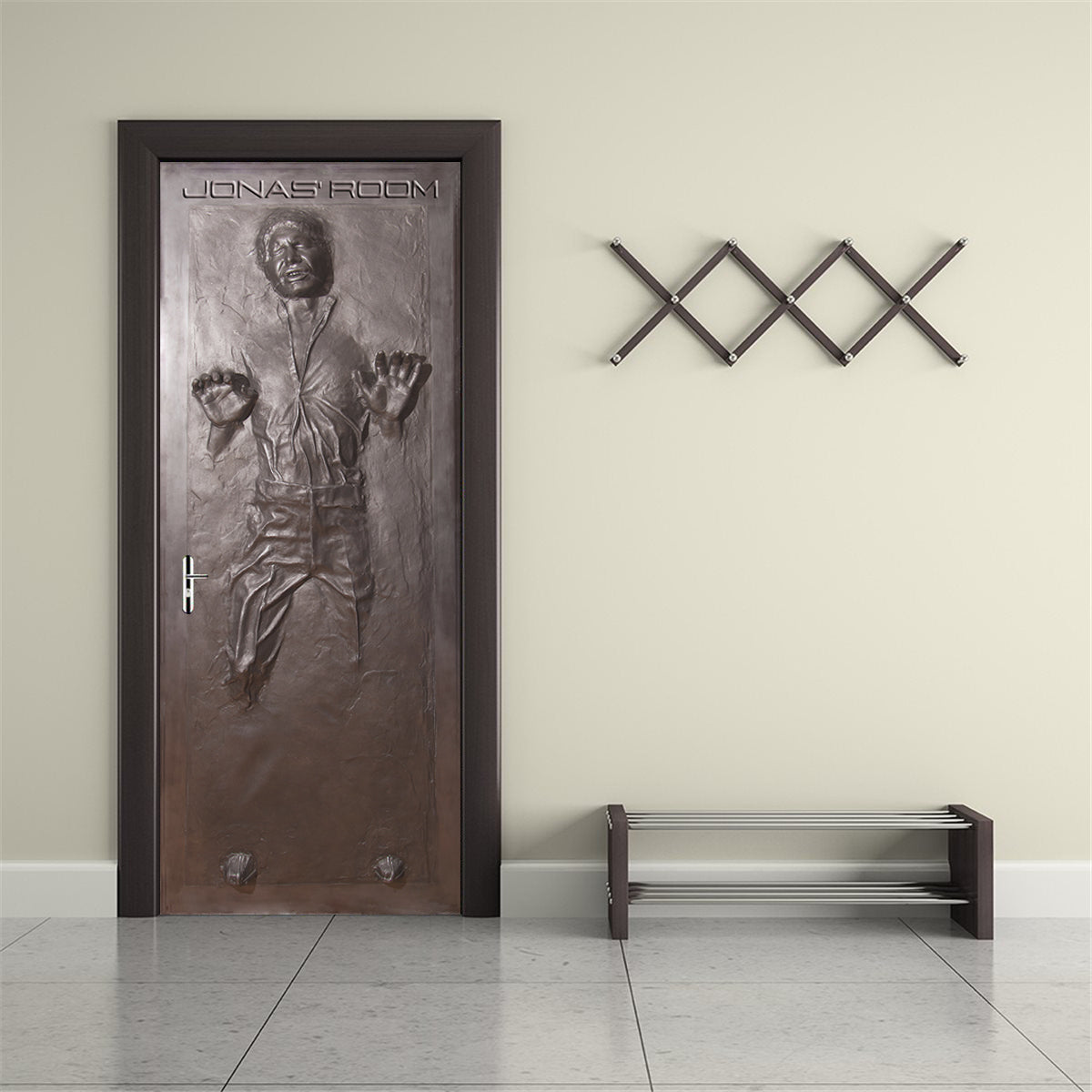 Han Solo Carbonite Star Wars Personalized Door Wrap Decal Removable St Decalz Co