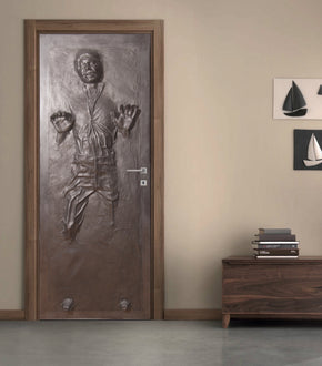 Han Solo Carbonite Star Wars Personalized DOOR WRAP Decal Removable Sticker D187