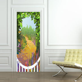 Fantasy Road DIY DOOR WRAP Decal Removable Sticker D189