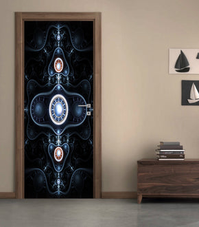 Abstract Shapes DIY DOOR WRAP Decal Removable Sticker D203