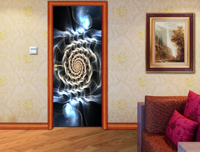 Tribal Circles Glowing DIY DOOR WRAP Decal Removable Sticker D205