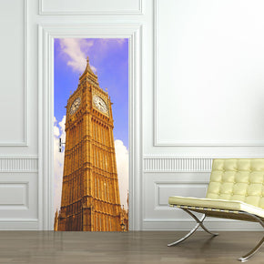 Clock Tower DIY DOOR WRAP Decal Removable Sticker D21