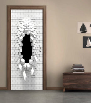 Hole In Wall DIY DOOR WRAP Decal Removable Sticker D221