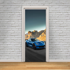 Sports Car DIY DOOR WRAP Decal Removable Sticker D241