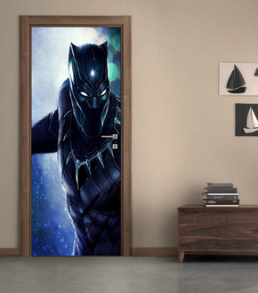 Black Panther Avengers  DIY DOOR WRAP Decal Removable Sticker D261