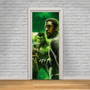 Black Panther & Hulk Avengers DIY DOOR WRAP Decal Removable Sticker D300