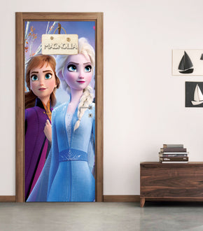Frozen Personalized Name DOOR WRAP Decal Removable Sticker D319