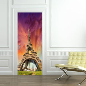 Eiffel Tower Paris DIY DOOR WRAP Decal Removable Sticker D40