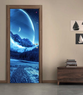 Fantasy Planet DIY DOOR WRAP Decal Removable Sticker D43