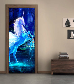 Unicorn Fantasy DIY DOOR WRAP Decal Removable Sticker D59