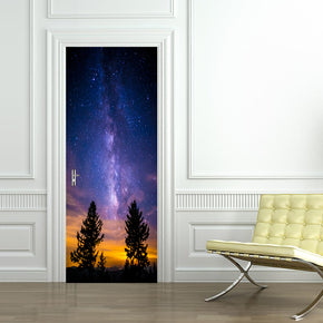 Space Milky Way Stars DIY DOOR WRAP Decal Removable Sticker D83