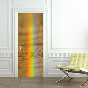 Rainbow DIY DOOR WRAP Decal Removable Sticker D91