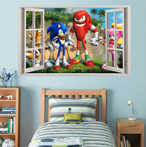 Sonic 3D Window Wall Sticker Decal H106