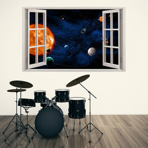 Space Planets Solar System 3D Window Wall Sticker Decal H107