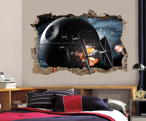 Star Wars Death Star 3D Smashed Broken Decal Wall Sticker H148